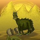 Dragon and Baby   by fantasee