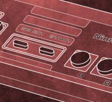 Distressed Nintendo NES Controller - Red Sticker