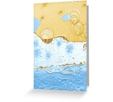 Bubble Flowers by the Puzzle Sea Greeting Card