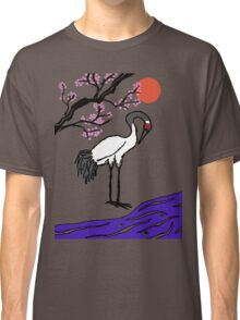 Crane Under Cherry Blossoms Classic T-Shirt