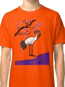 Crane Under Cherry Blossoms Classic T-Shirt