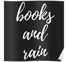 Books and Rain Poster
