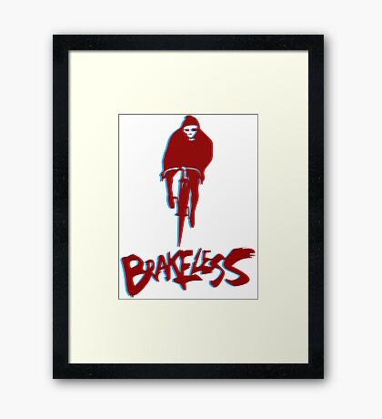 Brakeless Fixie/Fixed Gear 3D Framed Print
