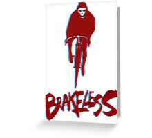Brakeless Fixie/Fixed Gear 3D Greeting Card