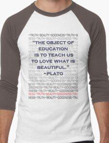 Education: For Beauty's Sake Men's Baseball ¾ T-Shirt