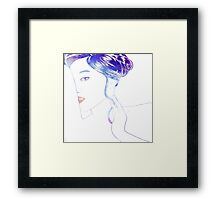 Soft Traces Framed Print