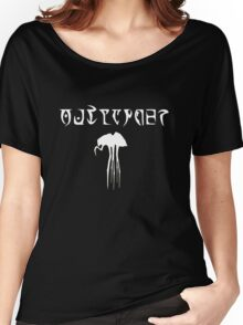 Daedric Print - Outlander with Silt Strider Women's Relaxed Fit T-Shirt