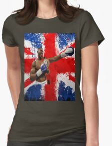 Anthony Joshua British Boxing World Champion  Womens Fitted T-Shirt