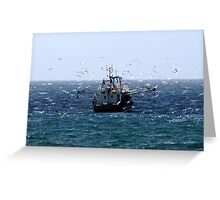 Fishing Trawler - Penzance, UK Greeting Card