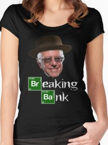 Bernie Breaking Bank Women's Fitted Scoop T-Shirt