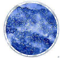 Northern Star Map Photographic Print