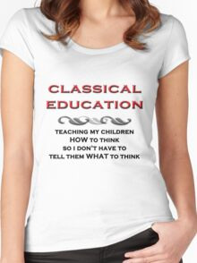 Classical Education Women's Fitted Scoop T-Shirt