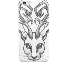 Jackalope Outline by Meg Inques  iPhone Case/Skin