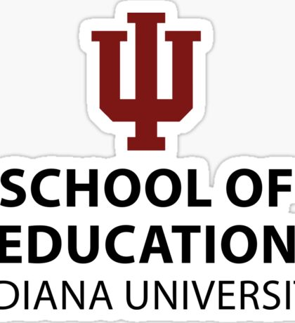 IU School of Education Sticker Sticker