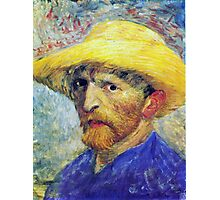 Vincent Van Gogh Self-Portrait in Straw Hat  Photographic Print