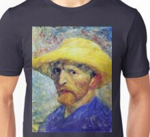 Vincent Van Gogh Self-Portrait in Straw Hat  Unisex T-Shirt