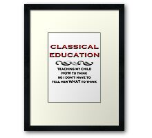 Classical Education Framed Print