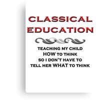 Classical Education Canvas Print