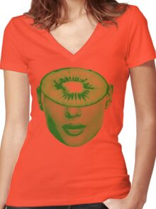 Kiwi-Ed (Kiwi) Women's Fitted V-Neck T-Shirt
