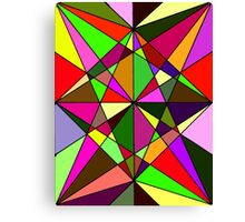 Warm Geometric Colours  Canvas Print