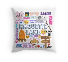 raquette lake camp  Throw Pillow