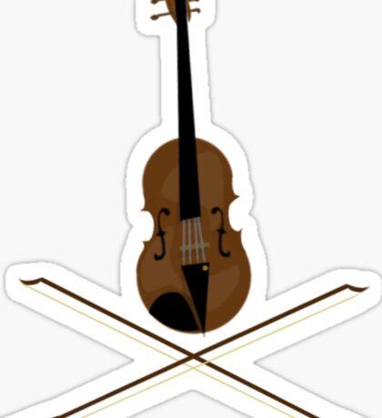 Violin and Cross Bows Sticker
