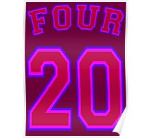 FOUR 20 - Purple Poster