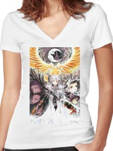 D Gray Man  Women's Fitted V-Neck T-Shirt