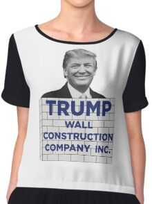 TRUMP - WALL CONSTRUCTION COMPANY  Chiffon Top
