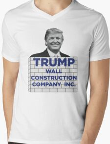 TRUMP - WALL CONSTRUCTION COMPANY  Mens V-Neck T-Shirt