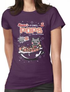 Nyans Pixel Pops Womens Fitted T-Shirt