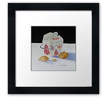 Fortune Cookies and Rice Framed Print