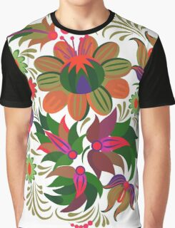 Red Summer Pattern Graphic T-Shirt