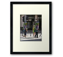 Poster boys, Budapest, Hungary Framed Print