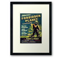 Vintage Sci-fi Movie Forbidden Planet, Robot Framed Print