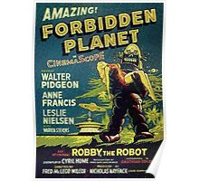 Vintage Sci-fi Movie Forbidden Planet, Robot Poster