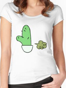 Clarence Farting Cactus Women's Fitted Scoop T-Shirt