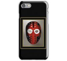 Vintage Sports Hockey Goalie Mask #6 iPhone Case/Skin