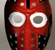 Vintage Sports Hockey Goalie Mask #6 Sticker