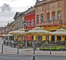 Street Scene, Novi Sad, Serbia Sticker