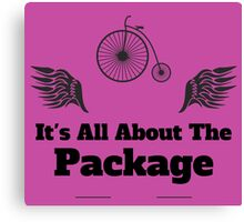 Its All About The Package Canvas Print