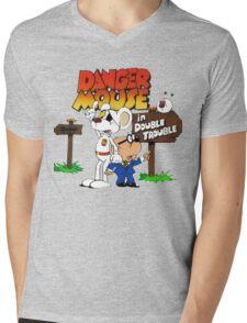 Danger Mouse Trouble Mens V-Neck T-Shirt