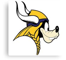 Goofy Minnesota Vikings Canvas Print
