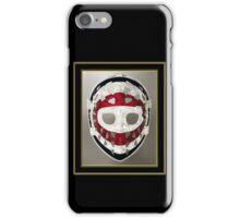 Vintage Sports Hockey Goalie Mask #14 iPhone Case/Skin