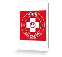 Hoth Ski Patrol Greeting Card