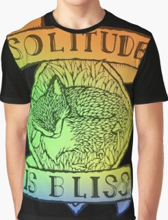 Solitude is Bliss - Hologram Version Graphic T-Shirt