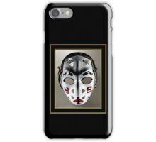 Vintage Sports Hockey Goalie Mask #15 iPhone Case/Skin