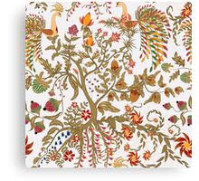 Pattern of birds of Paradise  Canvas Print