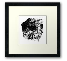 Land Cube Framed Print