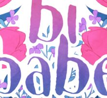 bi babe floral♠ Sticker